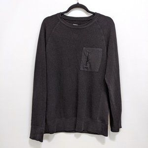 Merona Black Sweater with Front Pocket Size: Med